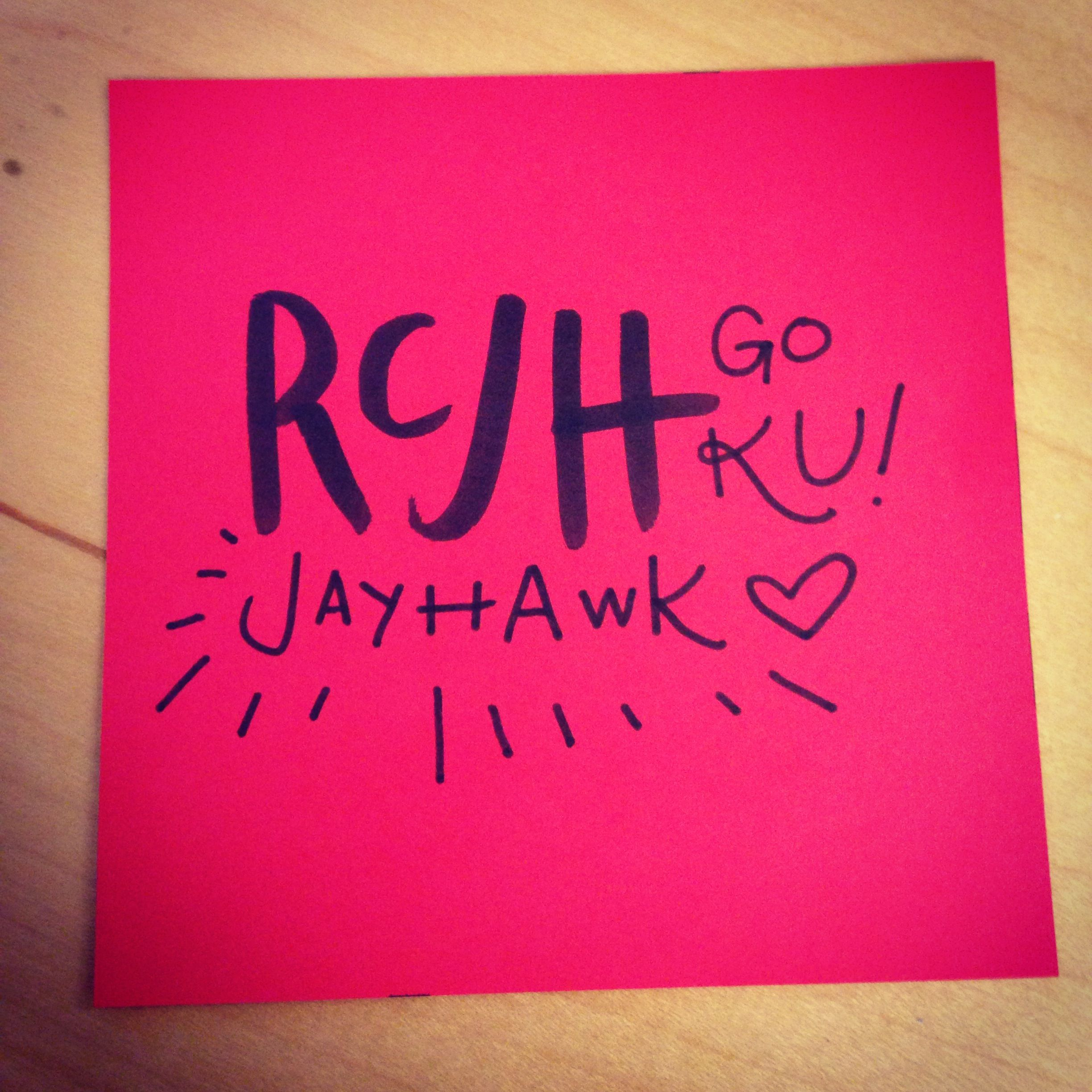 A lot of us are Jayhawks and can't wait for March Madness! #rcjh #kansascity