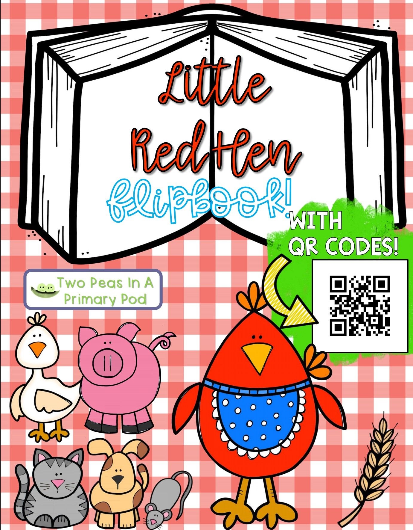Little Red Hen Fairy Tale Flipbook
