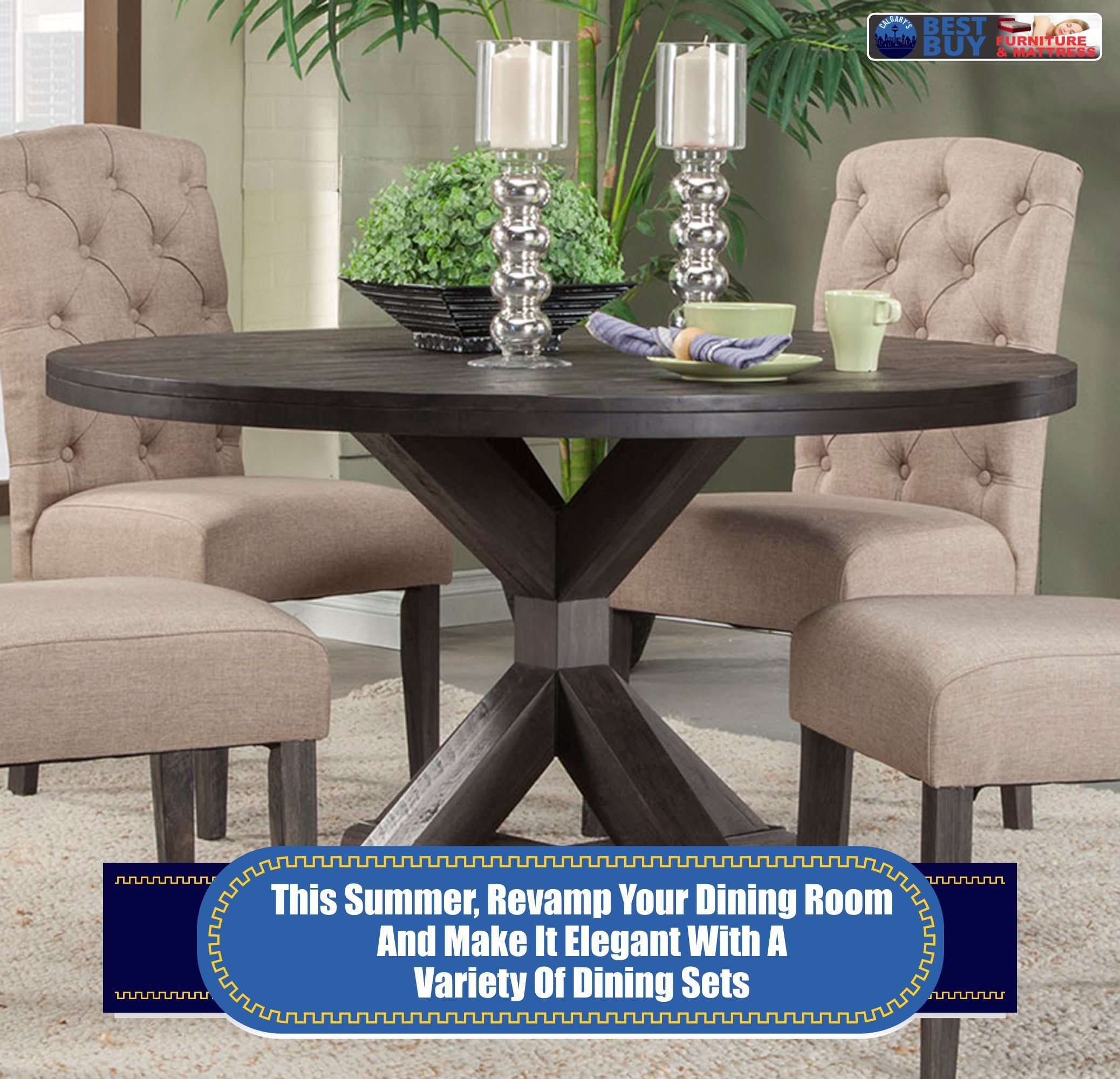 Dining Room Table Sets Calgary  Round dining room table, Round