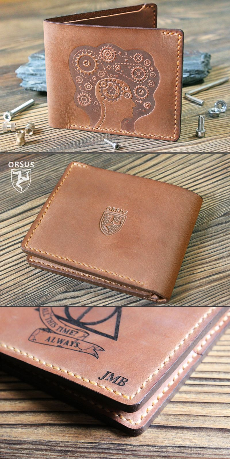 37c8b7773720 Leather wallet Personalized mens wallet Slim leather wallet Custom ...