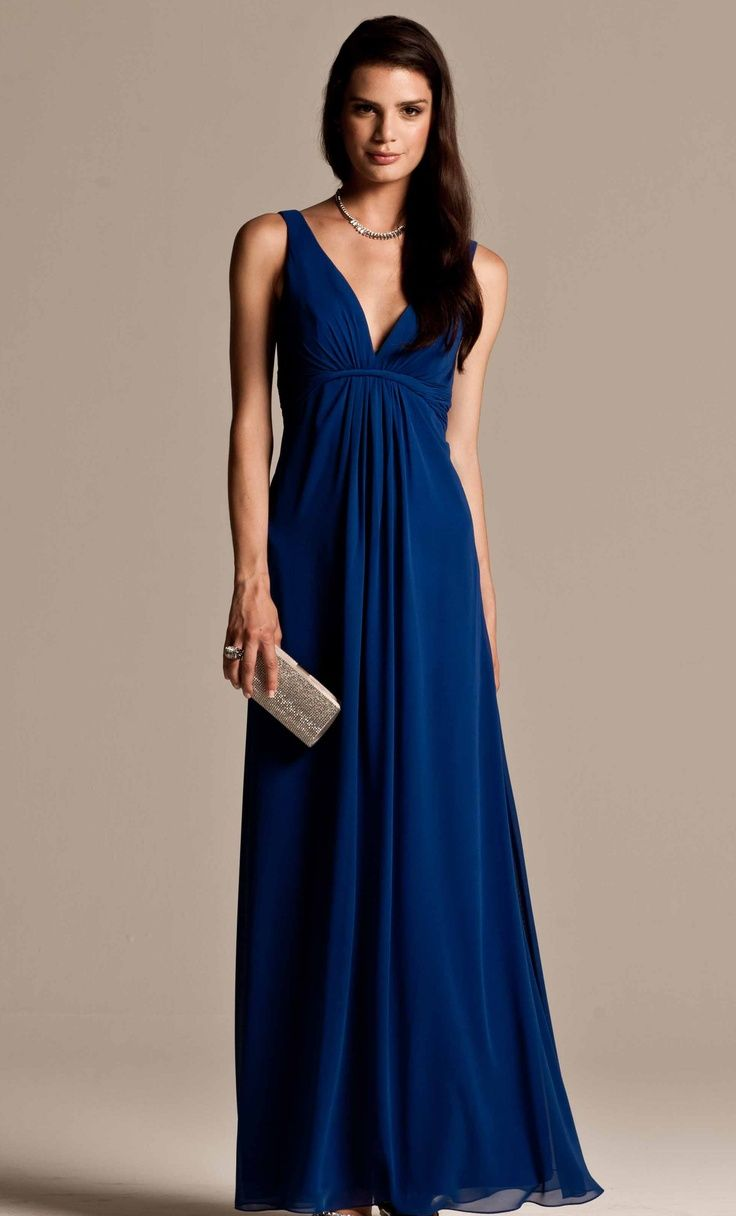 Royal blue bridesmaid dress something a little more for Long blue dress for wedding