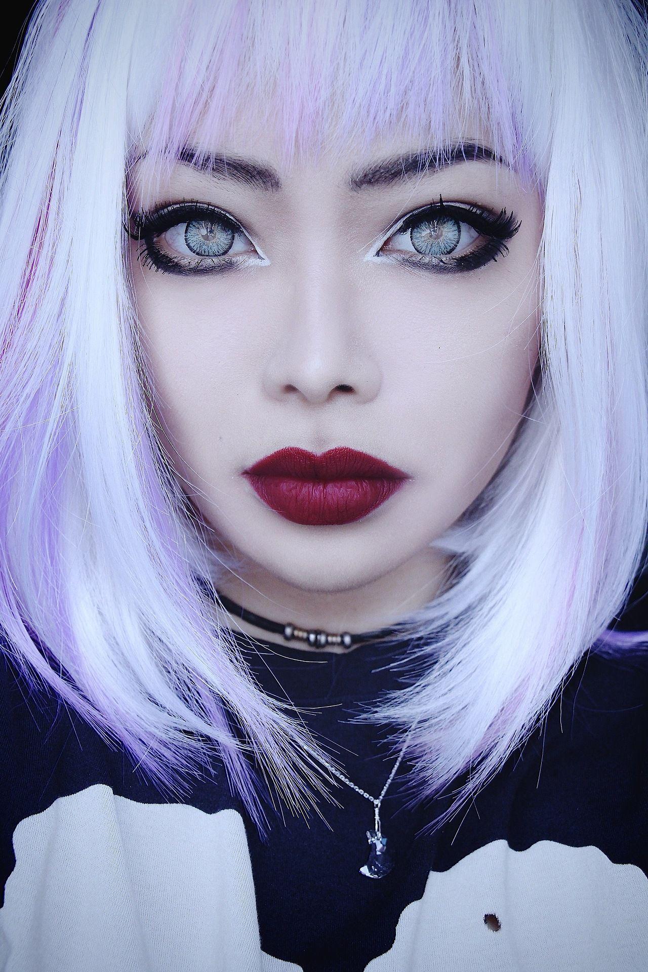 Wylona Hayashi Colored lens Pinterest Makeup, Gothic