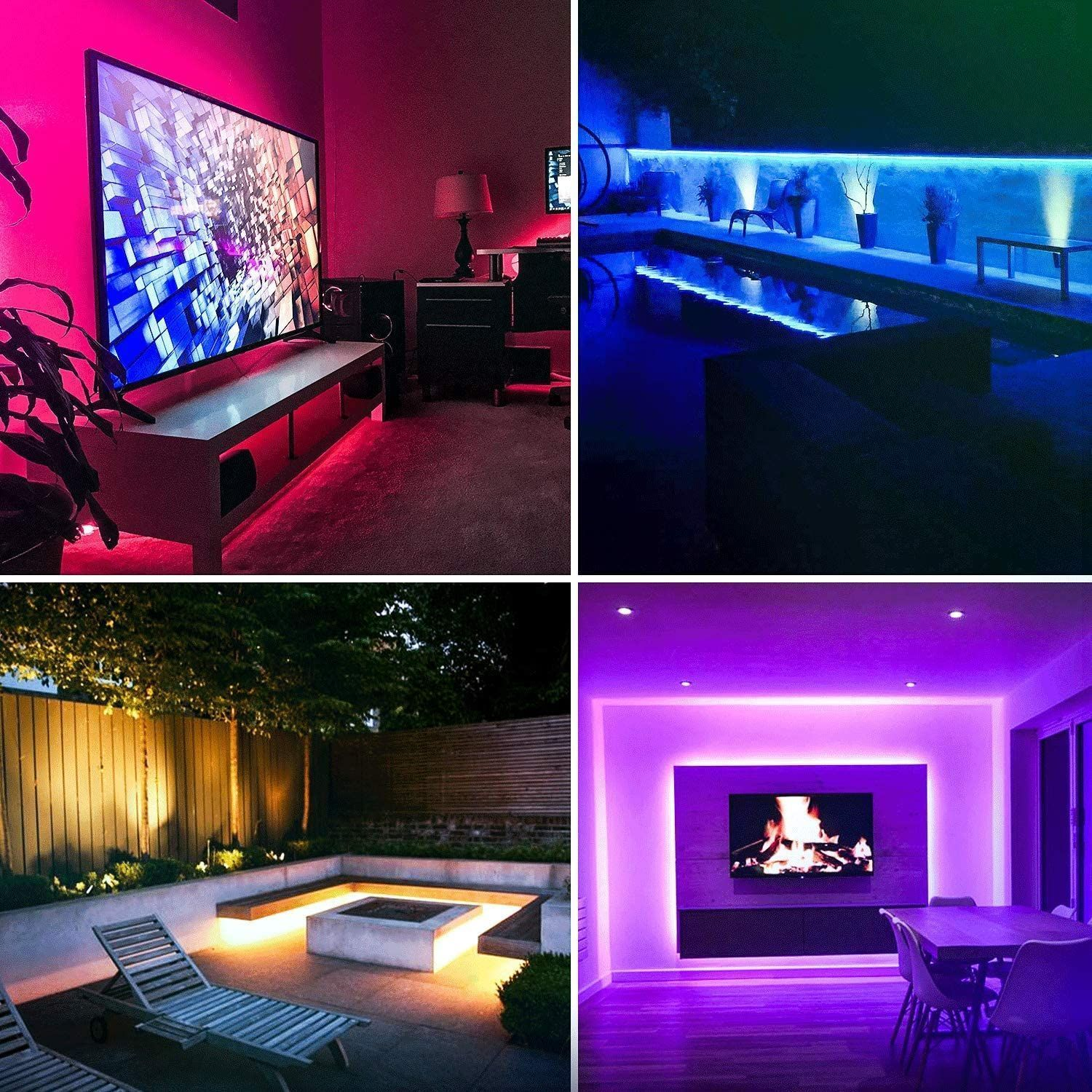 Myplus Led Strip Light Ip65 Upgrade Durable Rope Lights With Remote Control And Color Changing 16 4ft Waterp In 2020 Waterproof Led Lights Rope Lights Strip Lighting