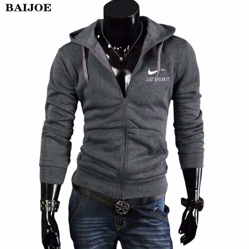BAIJOE Automne Hiver Hoodies Hommes Sweat Mode Hommes Hoodies Streetwear  impression Poitrine Zipper cardigan À Capuche. Sudaderas Para HombreSudaderas  ... d78106f7d88