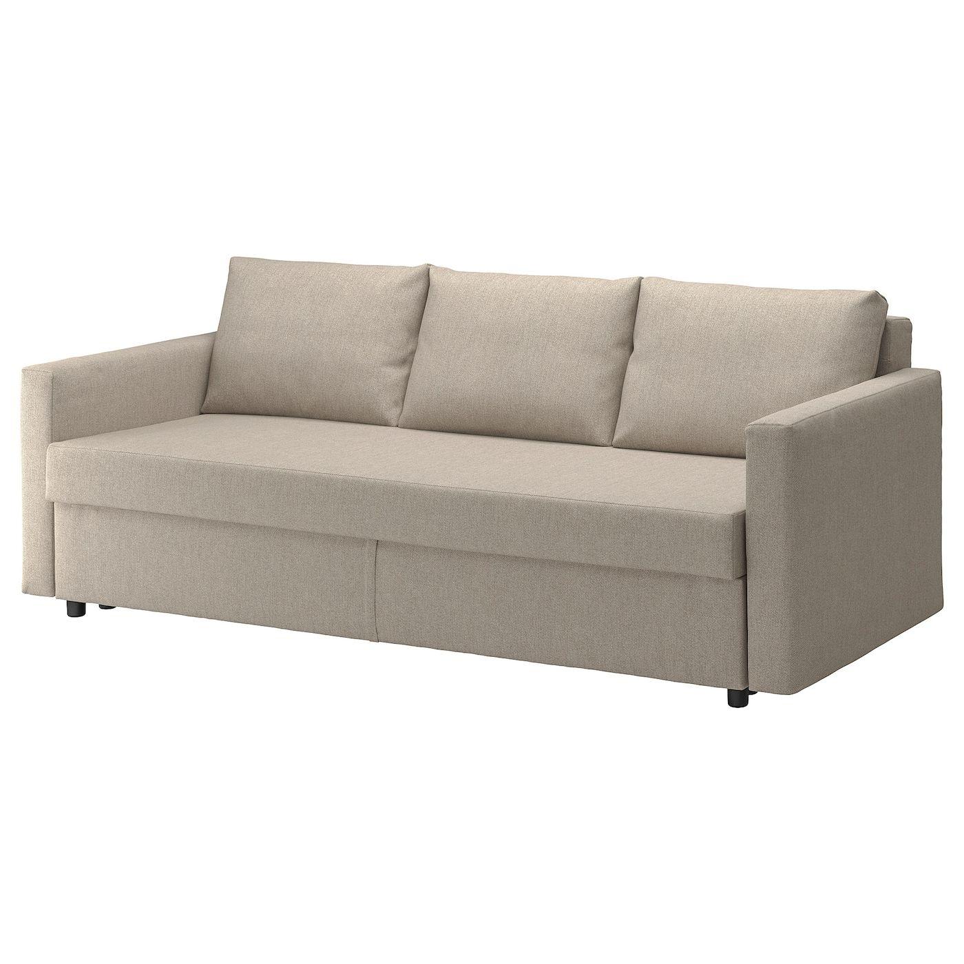 Friheten 3er Bettsofa Hyllie Beige Ikea Deutschland In 2020 Sofa Bed With Storage Ikea Bed Sleeper Sofa