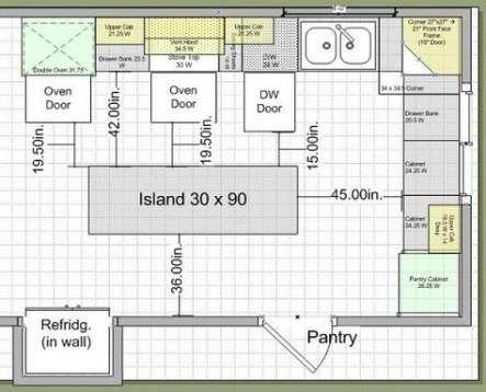 Kitchen Layout With Island Blueprint 42 Trendy Ideas Kitchen Island Dimensions Kitchen Layouts With Island Kitchen Designs Layout