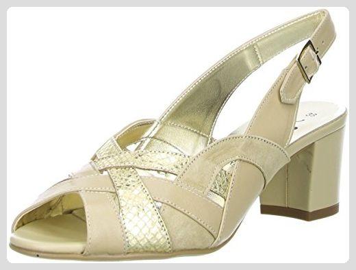 Vista Damen Slingpumps Beige/Gold, Größe:40;Farbe:Beige