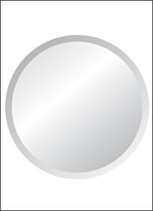 Round Mirrors Frameless Round Mirror Mirror Beveled Edge