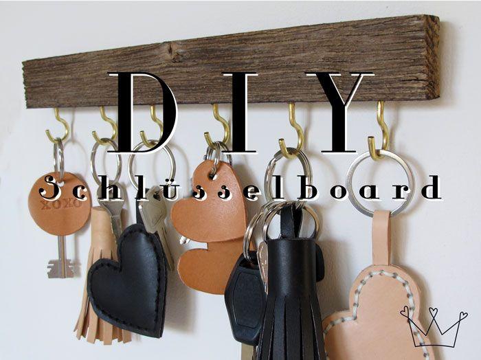DIY Tutorial für ein Schlüsselboard. Upcycling & Low Budget