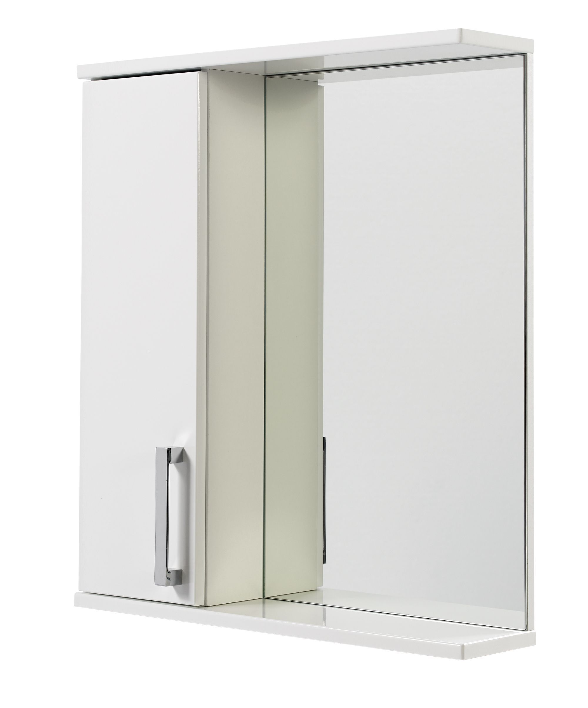 Ardenno Single Door White Gloss Mirror Cabinet | Mirror cabinets ...