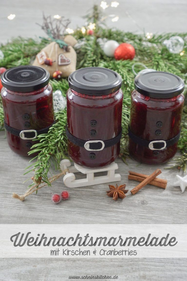 Weihnachtsmarmelade im Weihnachtsmannglas - Schnin's Kitchen #selbstgemachtesweihnachten