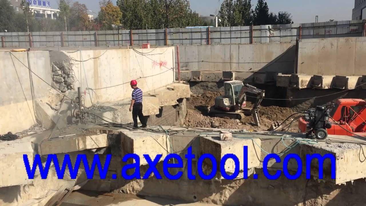 hydraulic wire saw cutting project, www.axetool.com   concrete ...