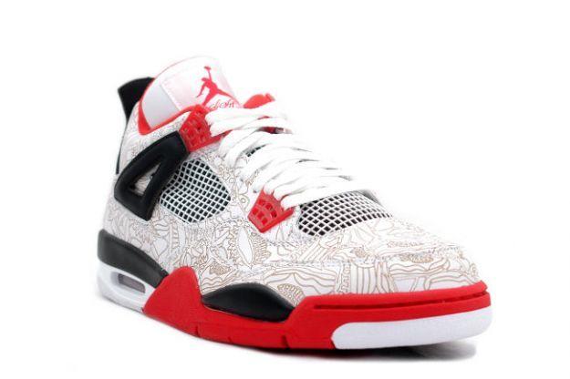Air Jordan 4 Iv Retro Laser White Varsity Red Black Air