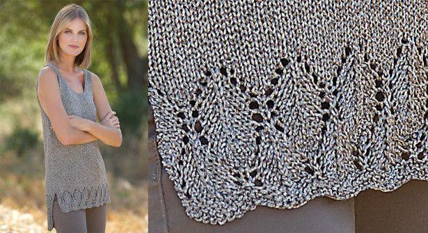 La tunique à festons tricotée