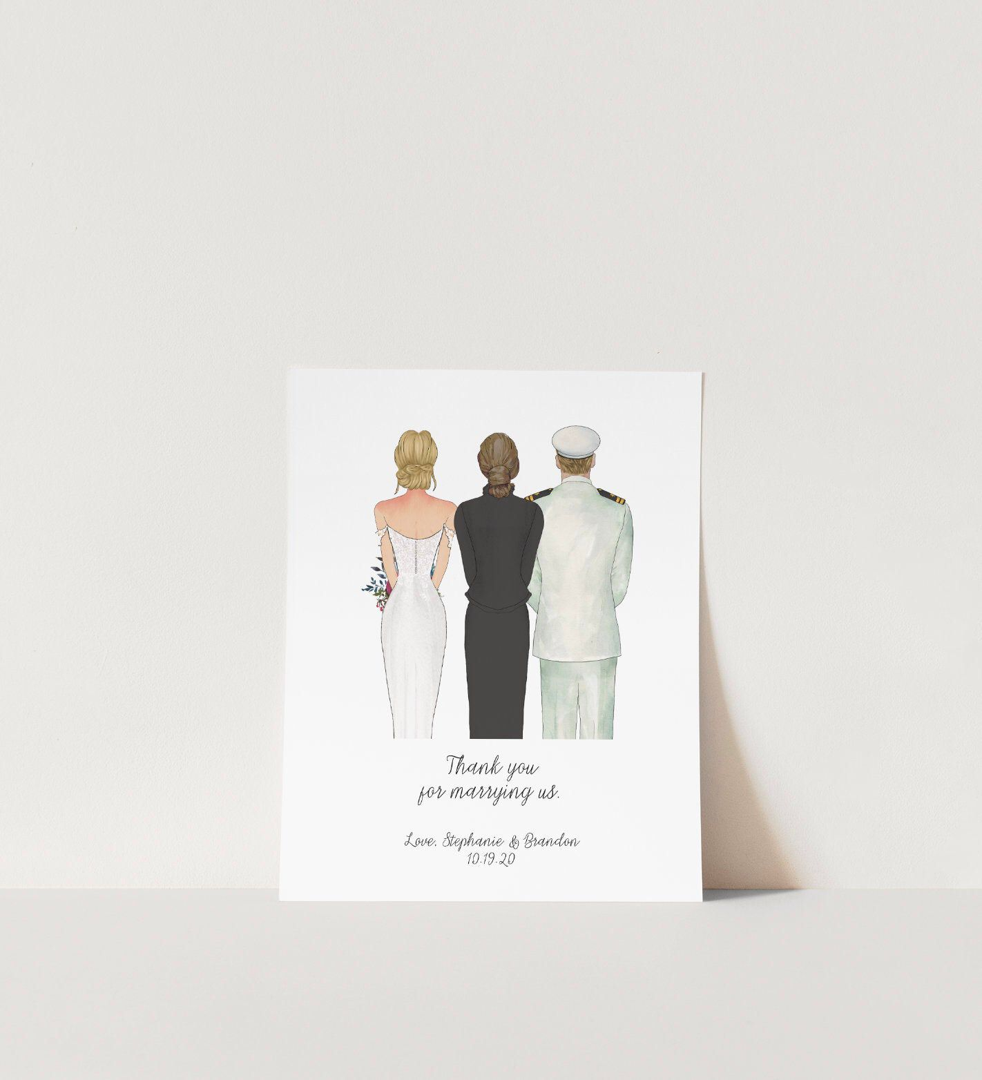 Officiant Pastor Thank You Gift, Wedding Reader Gift