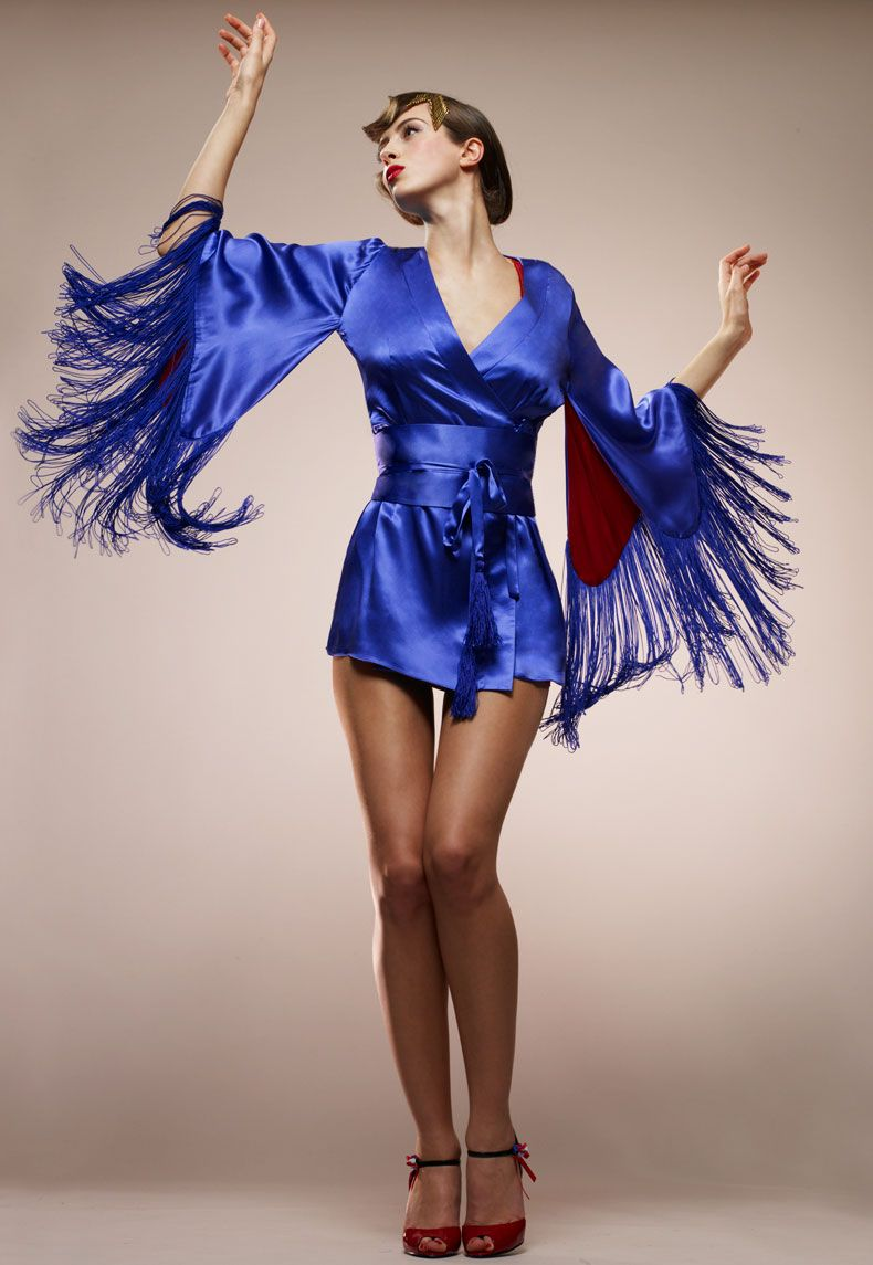 Madame V fringe kimono...a piece we had at Faire Frou Frou a few years ago  #lingerie