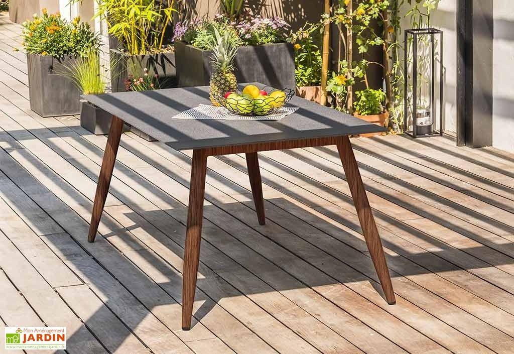 Table De Jardin Scandi Aluminium Et Verre 160 X 90 Cm Table De