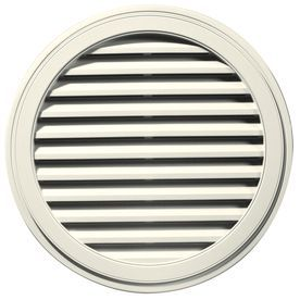 Builders Edge 12 In X 12 In Parchment Round Vinyl Gable Vent 120033636 Gable Vents Builders Edge Home Depot