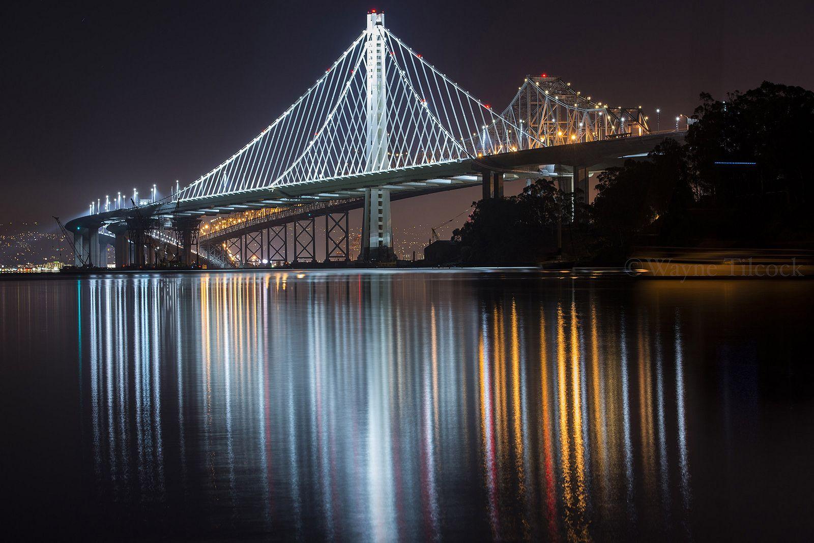 Wayne Tilcock. https://flic.kr/p/fCX2Ni | New Bay Bridge | The new and old San Francisco-Oakland Bay Bridge eastern span.