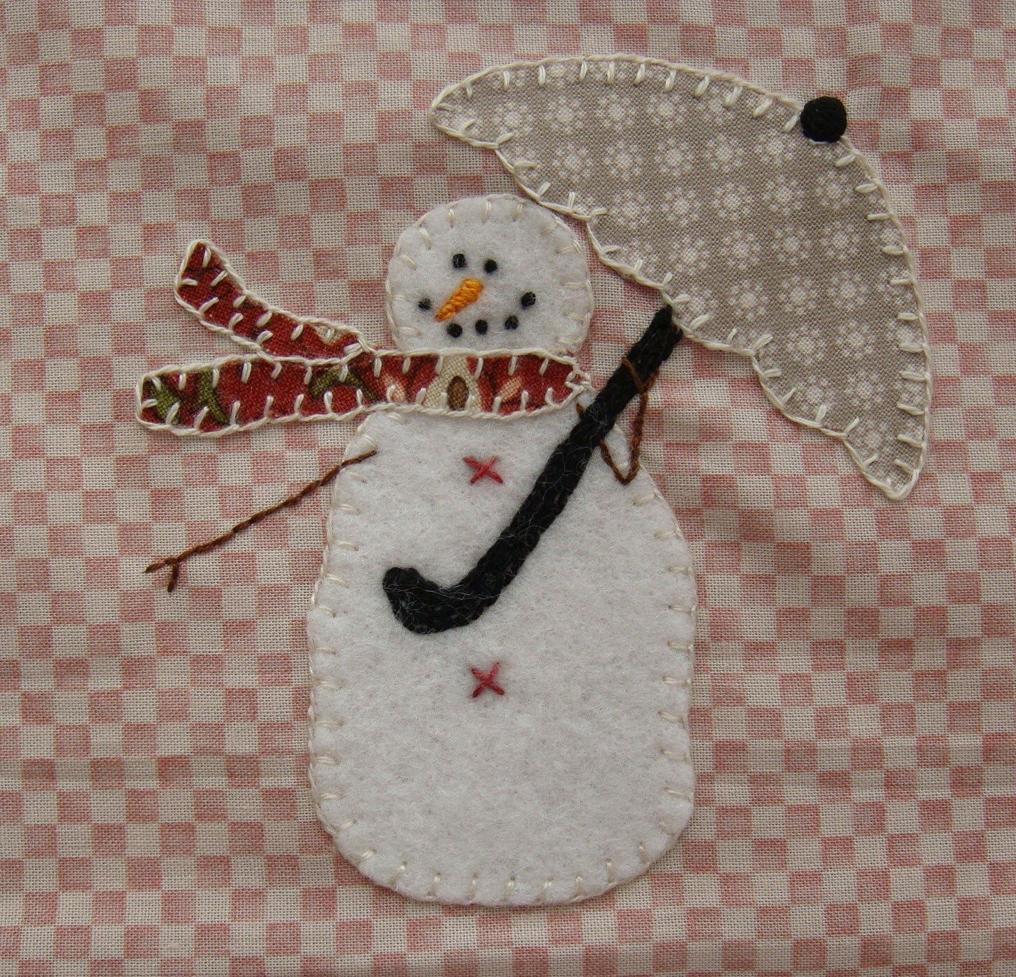 Patchwork Allsorts: April Snow Happy Heart Block