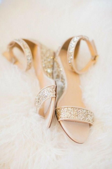 30 Preciosos Zapatos de Novia Brillantes - Bodas
