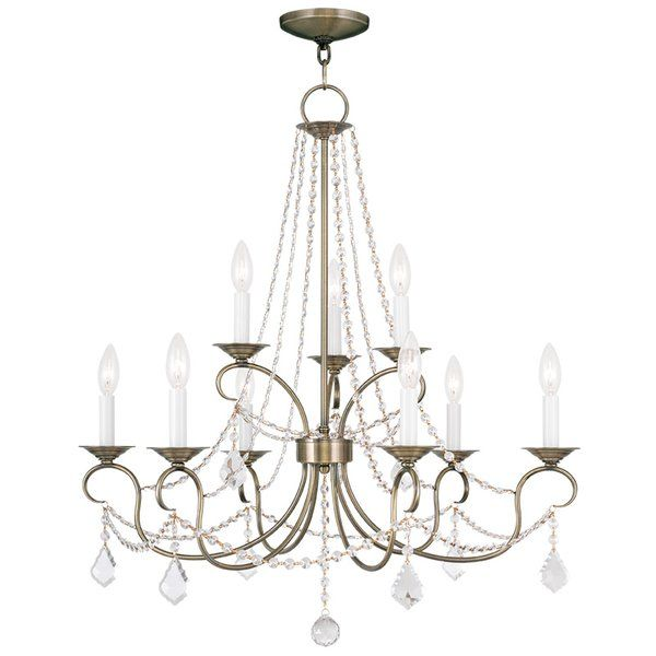 Youll love the devana 9 light crystal chandelier at wayfair great deals