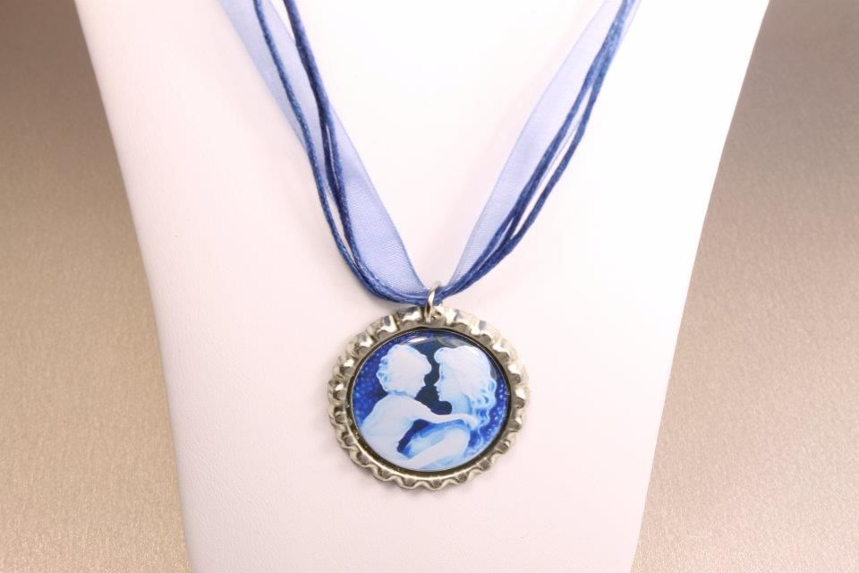 A Hip Cap Ribbon Necklace with a non custom image $3.99  https://www.facebook.com/HipCapsJewelry