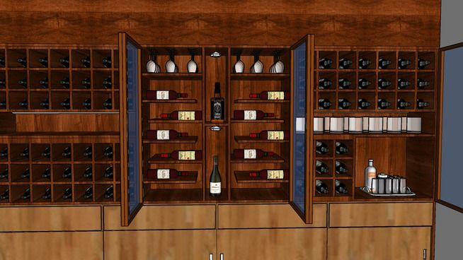 Adega 2 - 3D Warehouse   Wine rack, Home decor, Decor