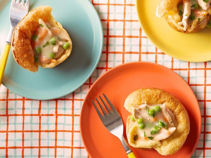 Healthy Chicken Pot Popovers