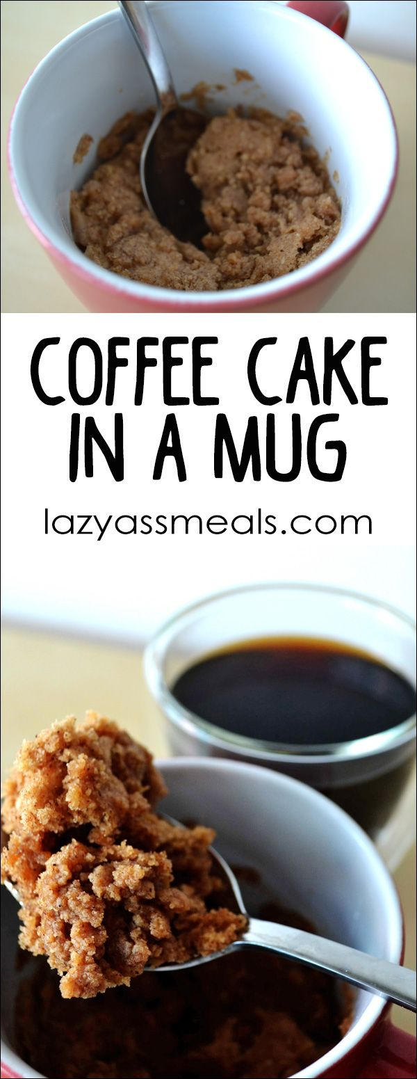 Mug Coffee Cake Recipe Coffee cake, Delicious cake