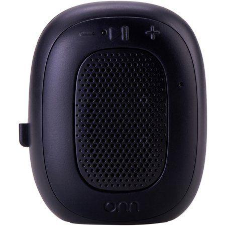 ONN Mini Bluetooth Speaker, Rich Black, Built-In