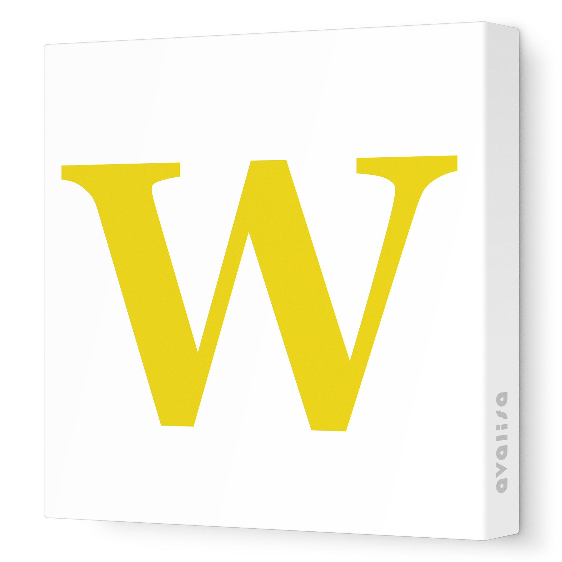 Dark Yellow Uppercase \'W\' - Letter Collection - Avalisa.com #nursery ...