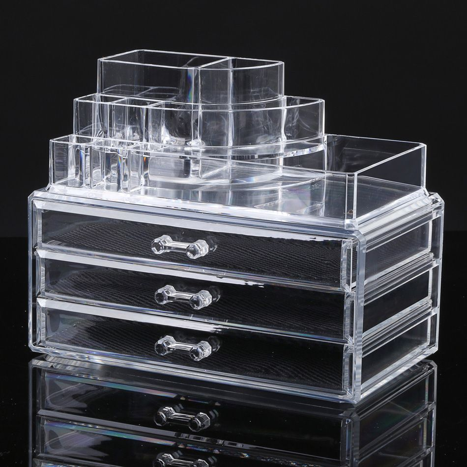 MakeupCosmetic Holder and Storage Stand from Clear Acrylic Plastic