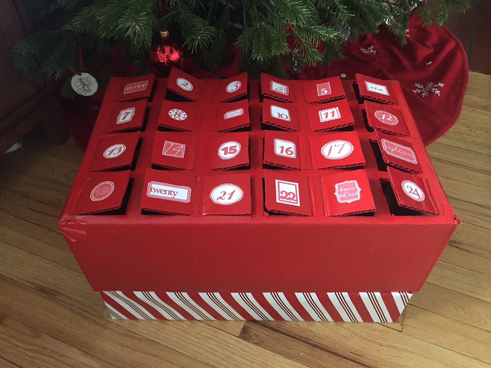 Step 3 Diy Wine Advent Calendar Box Wrap Paint Fill Wineadventcalendardiy Step 3 Diy Wi Wine Advent Calendar Advent Calendar Boxes Beer Advent Calendar