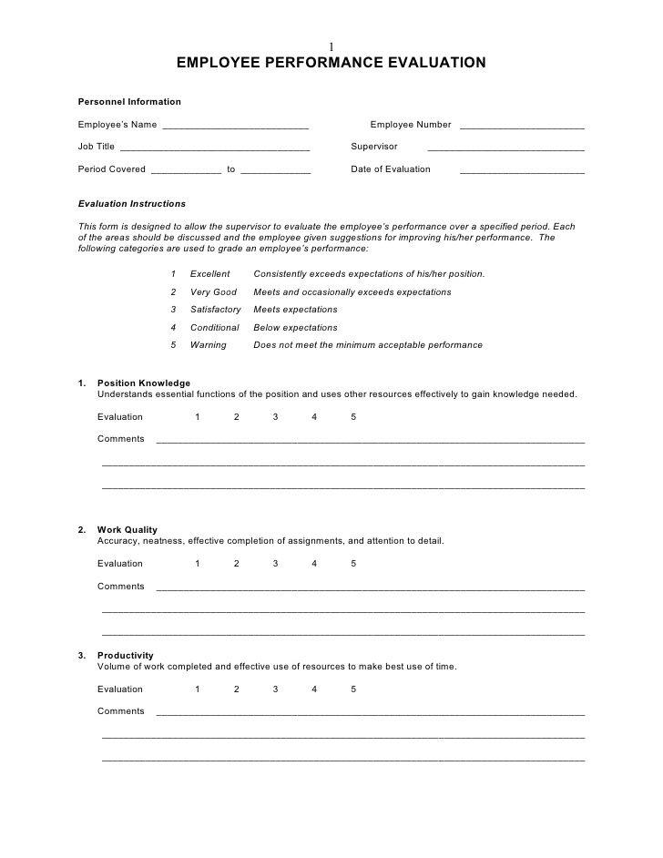 1 EMPLOYEE PERFORMANCE EVALUATION Personnel Information Employee\u0027s