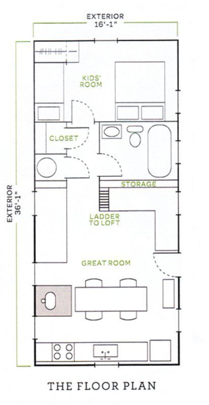 Image result for jessica helgerson tiny house floor plan Tiny