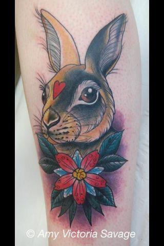 Red Rabbit Tattoo : rabbit, tattoo, Japanese, Rabbit, Tattoo, Google, Search, Tattoos,, Bunny, Flower, Tattoos