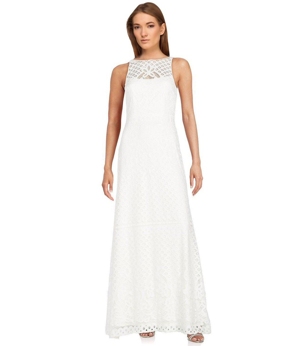 VERA WANG Embroidered Lace Halter Gown\'. #verawang #cloth #formal ...