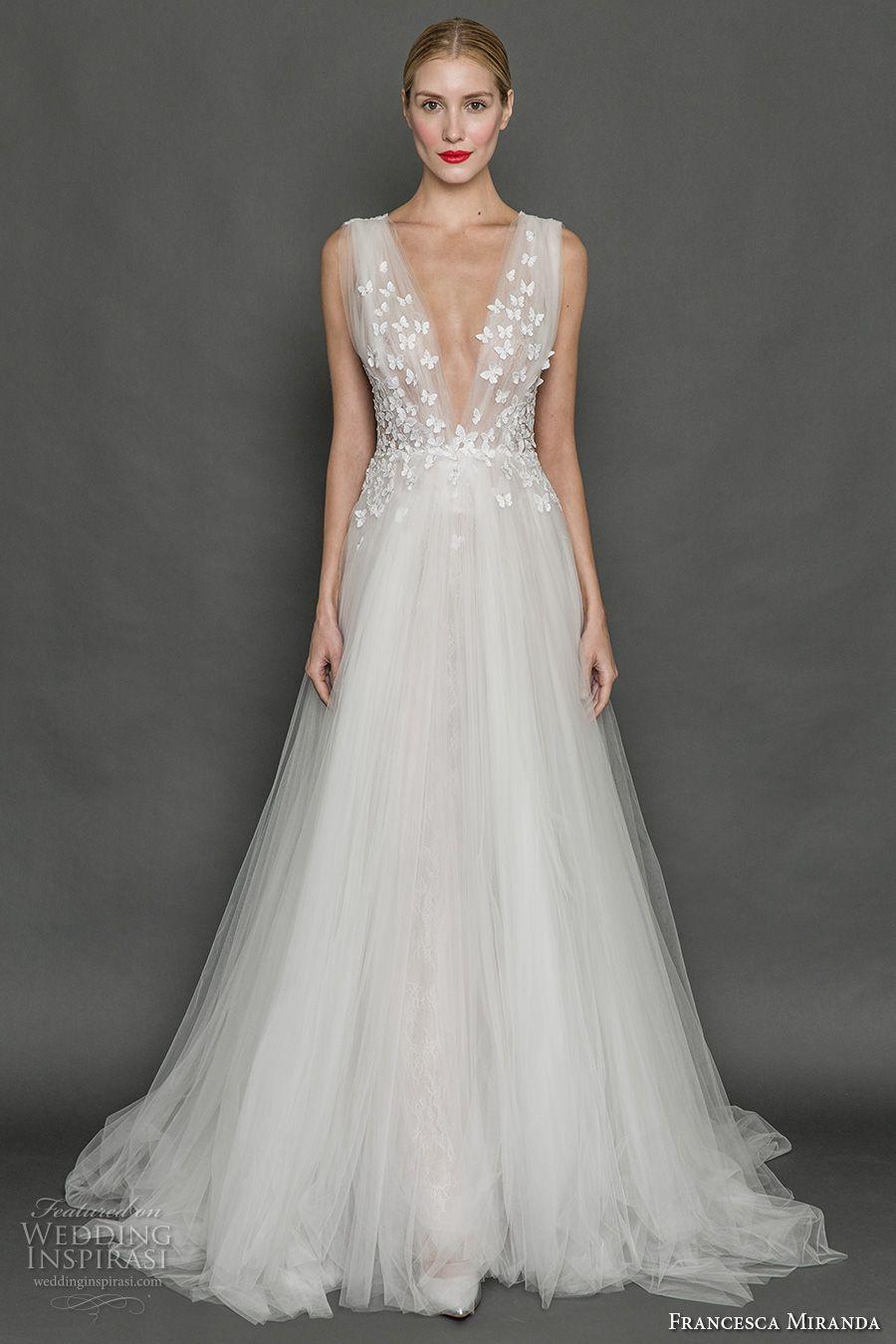 Francesca miranda fall 2017 wedding dresses butterfly for Butterfly back wedding dress