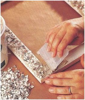 Marcos de madera elementos naturales como piedras - Decorar marcos de madera ...