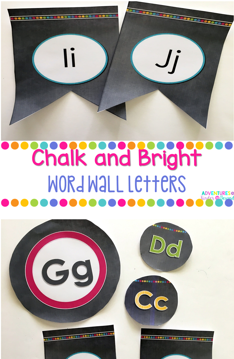 Word Wall Letters Amazing Chalk And Bright Word Wall Letters  Word Wall Letters And Lower Design Inspiration