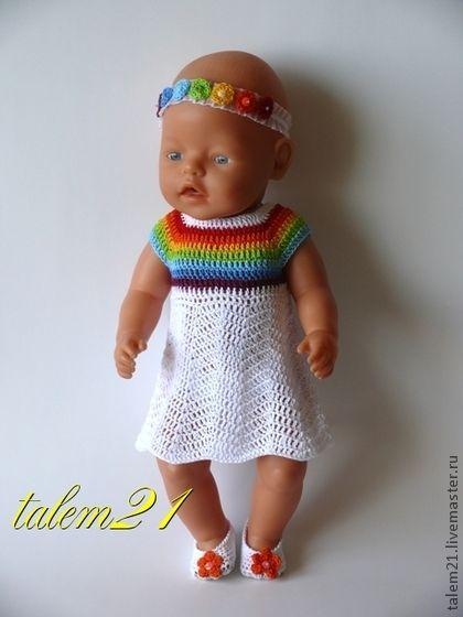 платье Радужная кокетка - беби бон,Беби Борн,baby born,кукольная одежда
