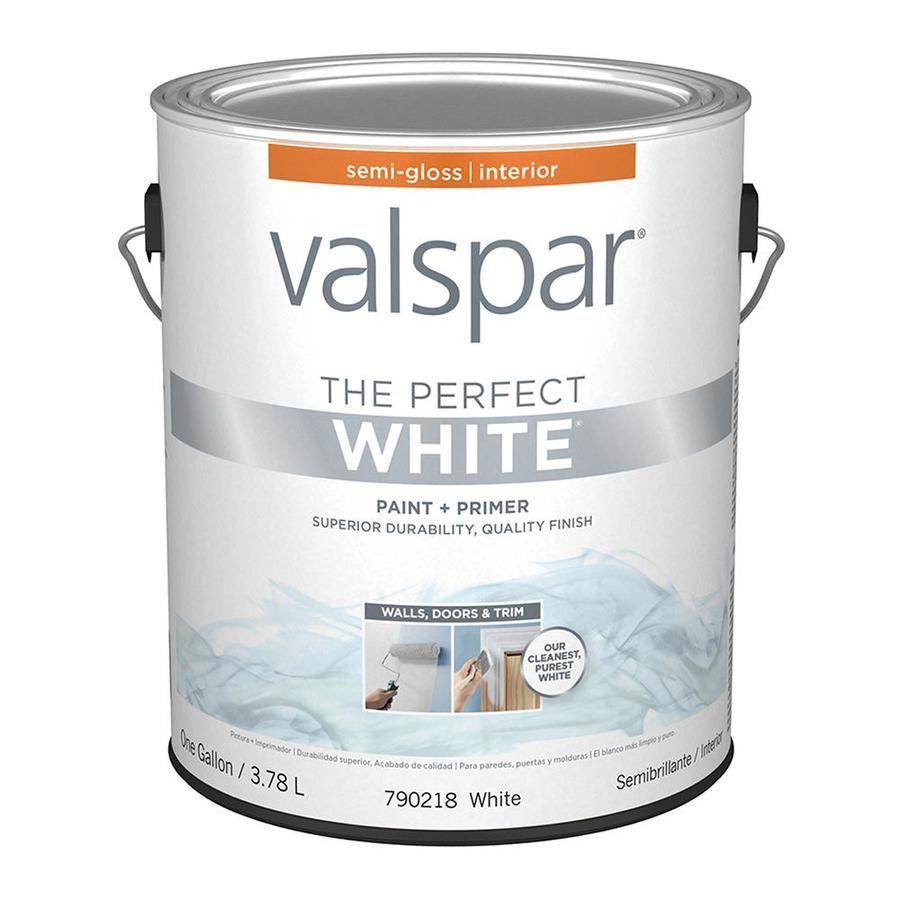Valspar Semi Gloss Perfect White Interior Paint 1 Gallon Lowes Com White Interior Paint Valspar Interior Paint