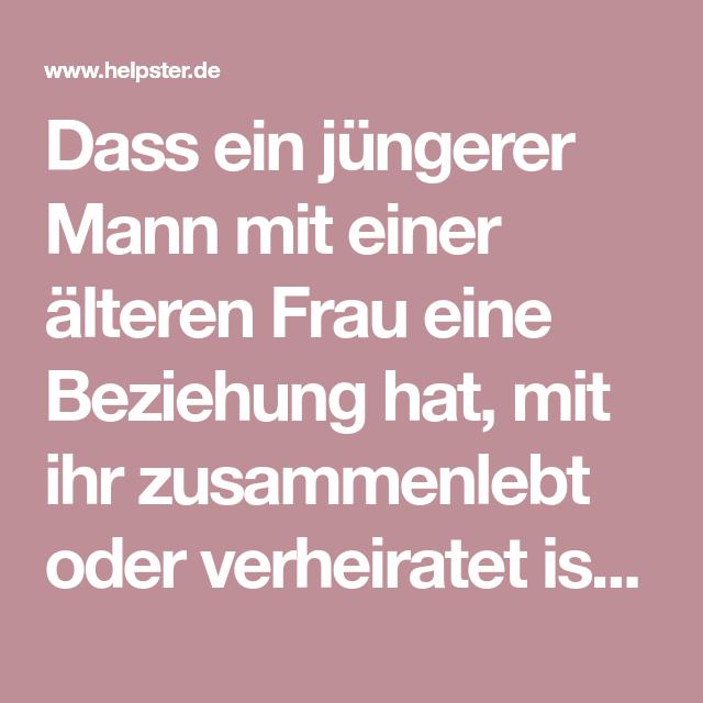 Frau Jüngerer Mann Ältere 5 Gründe,