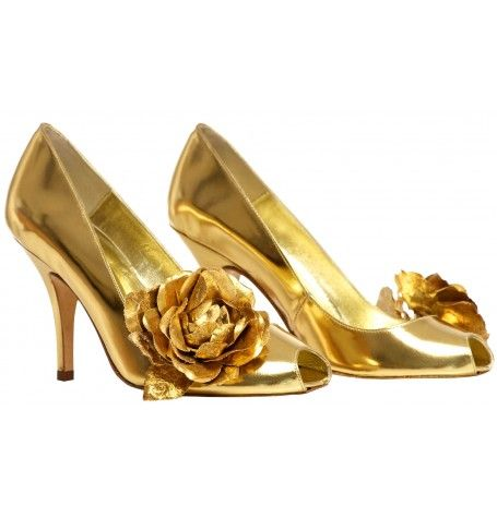 a626beca718 Gold leather wedding shoes. Yes Please! From Freya Rose