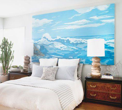 Make your own Giant Seascape Wall Art. DIY Large Scale Stretched Canvas