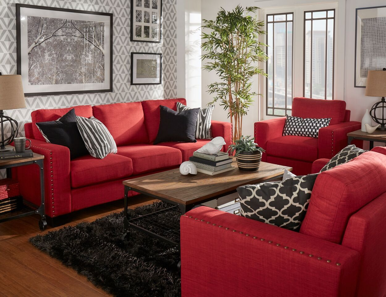 Home Red Living Room Decor Red Furniture Living Room Red Couch Living Room