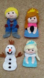 Felt Anna, Elsa, Olaf and Kristoff