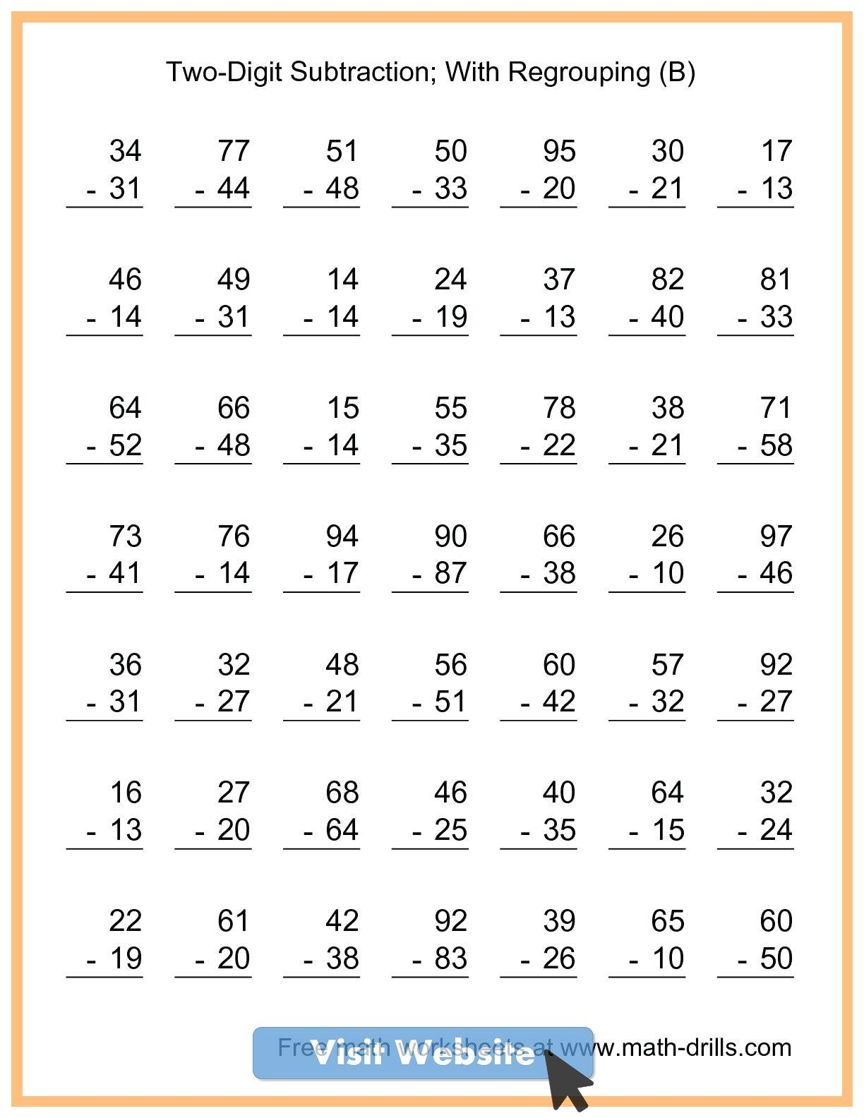 Addition Worksheets First Grade Math Sheets Free Printable Math Worksheets 2nd Grade Math Worksheets 2nd Grade Worksheets
