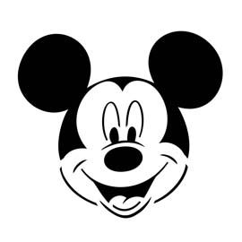 Mickey Mouse Stencil   Disneyland   Pinterest   Mickey mouse stencil ...